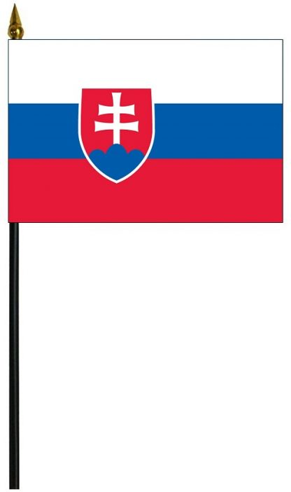 "MRF-46-SLOVAKIA Slovakia 4"" x 6"" Staff Mounted Rayon-0"