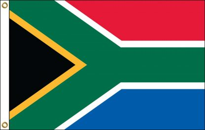 FW-135-4X6SOUTHAFRIC South Africa 4' x 6' Outdoor Nylon Flag with Heading and Grommets-0