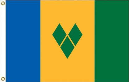 """IFM-STVINCENT St. Vincent 12"""" x 18"""" Outdoor Nylon Flag with Heading and Grommets-0"""