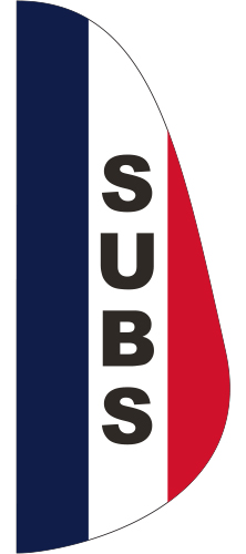 FEF-3X8-SUB Subs 3' x 8' Message Feather Flag-0