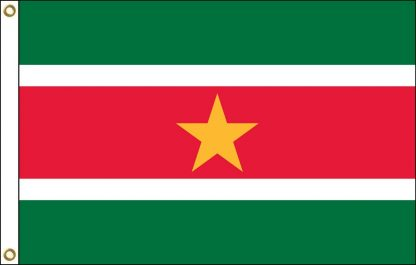 035211 Suriname 6' x 10' Outdoor Nylon Flag with Heading and Grommets-0