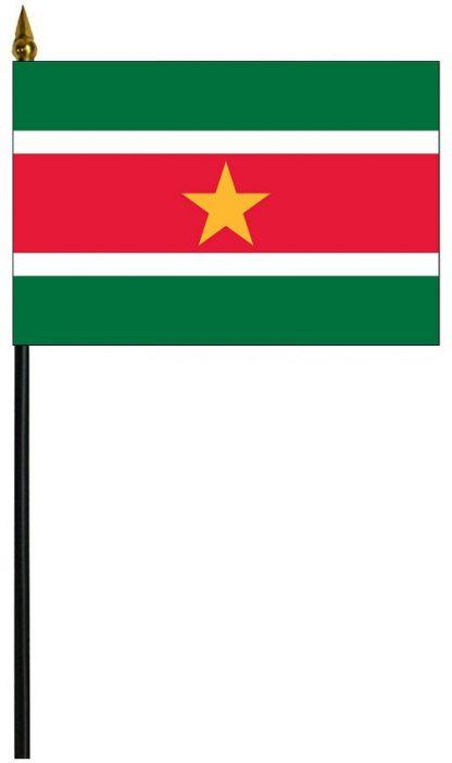 "MRF-46-SURINAME Suriname 4"" x 6"" Staff Mounted Rayon-0"