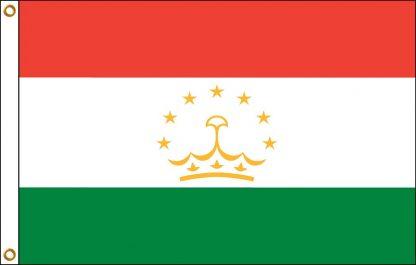 FW-135-5X8TAJIKISTAN Tajikistan 5' x 8' Outdoor Nylon Flag with Heading and Grommets-0