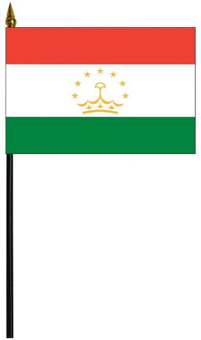 """MRF-46-TAJIKISTAN Tajikistan 4"""" x 6"""" Staff Mounted Rayon-0"""