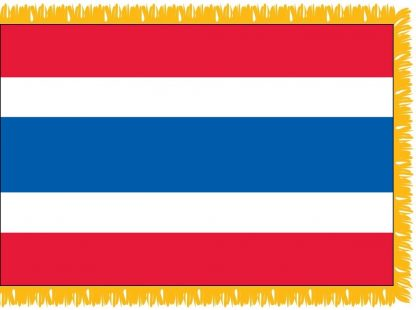 FWI-215-3X5THAILAND Thailand 3' x 5' Indoor Flag with Pole Sleeve and Fringe-0