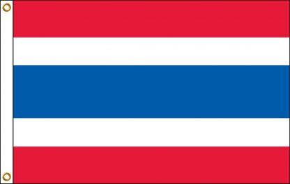 FW-115-THAILAND Thailand 2' x 3' Outdoor Nylon Flag with Heading and Grommets-0