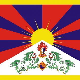 034108 Tibet 3' x 5' Polyester Flag with Heading & Grommets-0