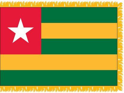 FWI-230-4X6TOGO Togo 4' x 6' Indoor Flag with Pole Sleeve and Fringe-0