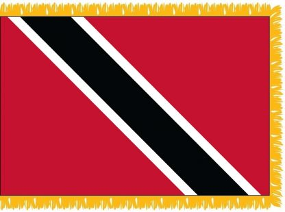 FWI-230-4X6TRINTOBA Trinidad & Tobago 4' x 6' Indoor Flag with Pole Sleeve and Fringe-0