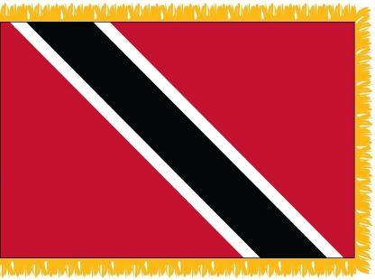 FWI-230-3X5TRINTOBA Trinidad & Tobago 3' x 5' Indoor Flag with Pole Sleeve and Fringe-0