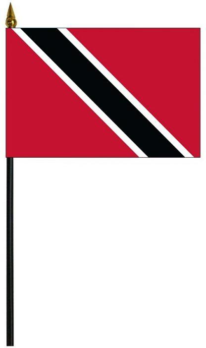 """MRF-46-TRINTOBAGO Trinidad & Tobago 4"""" x 6"""" Staff Mounted Rayon-0"""