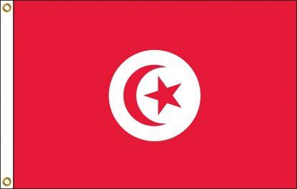 FW-140-TUNISIA Tunisia 2' x 3' Outdoor Nylon Flag with Heading and Grommets-0