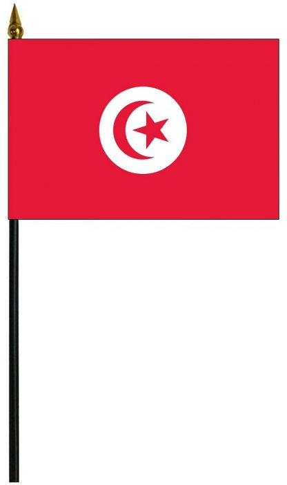 "MRF-46-TUNISIA Tunisia 4"" x 6"" Staff Mounted Rayon-0"