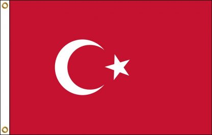 035225 Turkey 6' x 10' Outdoor Nylon Flag with Heading and Grommets-0