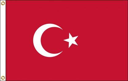 FW-130-3X5TURKEY Turkey 3' x 5' Outdoor Nylon Flag with Heading and Grommets-0