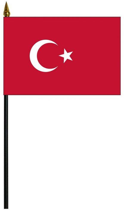 "MRF-46-TURKEY Turkey 4"" x 6"" Staff Mounted Rayon-0"