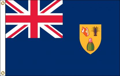 034221 Turks & Caicos 3' x 5' Outdoor Nylon Flag with Heading and Grommets-0