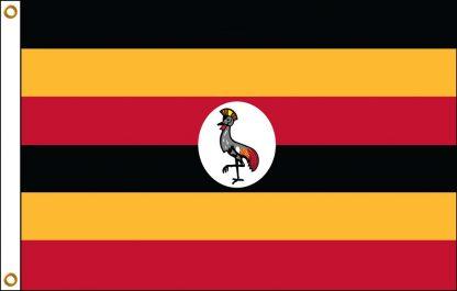 FW-140-UGANDA Uganda 2' x 3' Outdoor Nylon Flag with Heading and Grommets-0