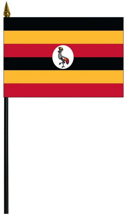 "MRF-46-UGANDA Uganda 4"" x 6"" Staff Mounted Rayon-0"