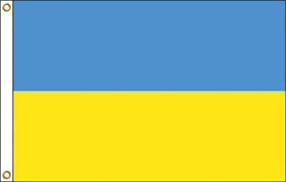 035230 Ukraine 6' x 10' Outdoor Nylon Flag with Heading and Grommets-0