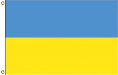 FW-110-5X8UKRAINE Ukraine 5' x 8' Outdoor Nylon Flag with Heading and Grommets-0
