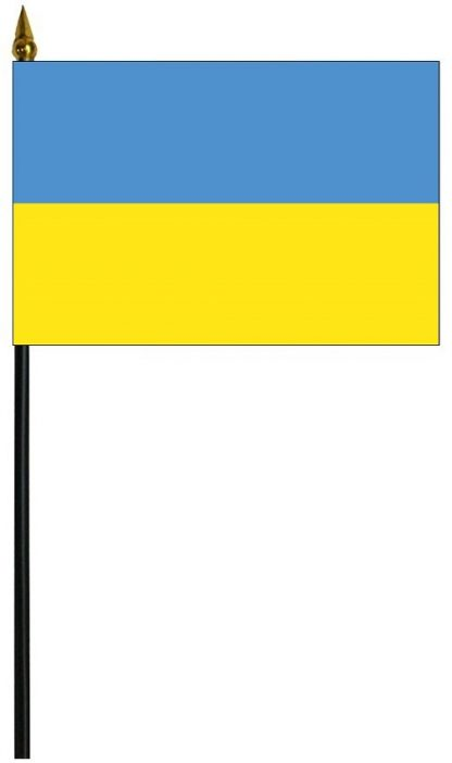 "MRF-46-UKRAINE Ukraine 4"" x 6"" Staff Mounted Rayon-0"