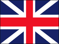 HF-432 Union Jack 3' x 5' Outdoor Nylon Flag with Heading and Grommets-0