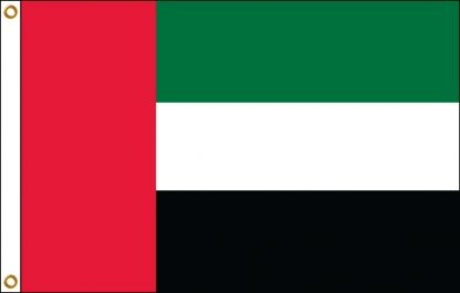 FW-120-3X5UAN United Arab Emirates 3' x 5' Outdoor Nylon Flag with Heading and Grommets-0