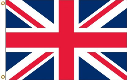 FW-120-UK United Kingdom 2' x 3' Outdoor Nylon Flag with Heading and Grommets-0