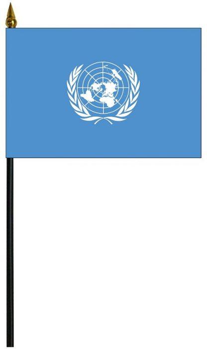 "MRF-46-UNITNATION United Nations 4"" x 6"" Staff Mounted Rayon-0"