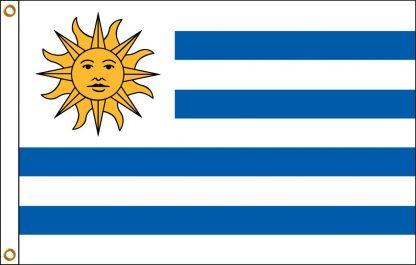 FW-135-4X6URUGUAY Uruguay 4' x 6' Outdoor Nylon Flag with Heading and Grommets-0