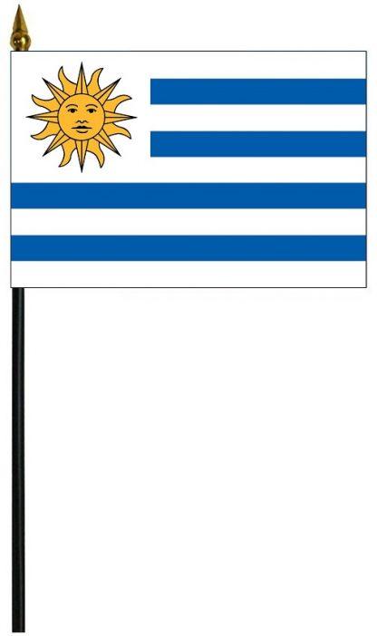 "MRF-46-URUGUAY Uruguay 4"" x 6"" Staff Mounted Rayon-0"