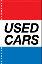 WC-8H-USEDCARS Used Cars 2.5' x 5' Windchaser Horizontal Message Flag-0
