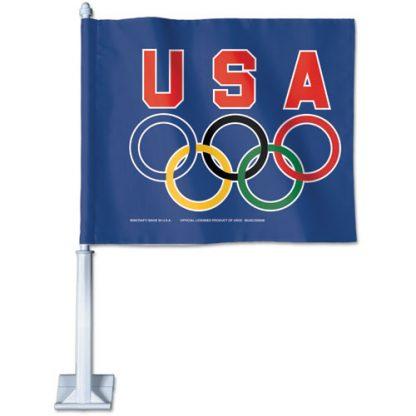 USA-CARFLAG USOC Olympic Rings Car Flag-0