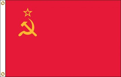 FW-140-3X5USSR USSR 3' x 5' Outdoor Nylon Flag with Heading and Grommets-0