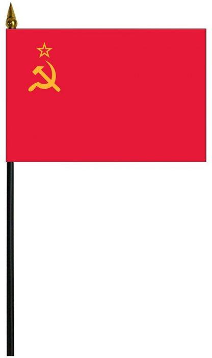 "MRF-46-USSR USSR 4"" x 6"" Staff Mounted Rayon-0"