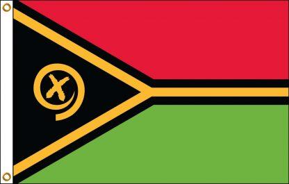 FW-140-5X8VANUATU Vanuatu 5' x 8' Outdoor Nylon Flag with Heading and Grommets-0