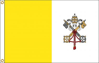 RF-130 Vatican City 5' x 8' Outdoor Nylon Flag with Heading and Grommets-0