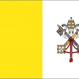 RF-125 Vatican City 4' x 6' Outdoor Nylon Flag with Heading and Grommets-0