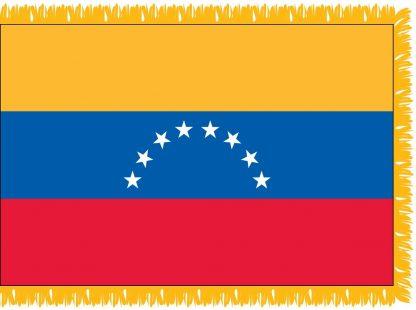 FWI-220-4X6VENEZUELA Venezuela 4' x 6' Indoor Flag with Pole Sleeve and Fringe-0
