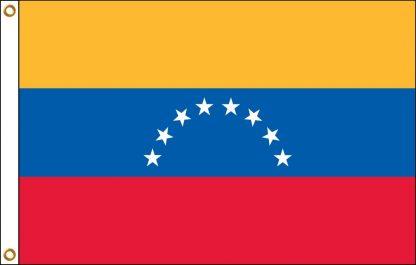 FW-120-5X8VENEZUELA Venezuela 5' x 8' Outdoor Nylon Flag with Heading and Grommets-0