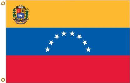 FW-140-3X5VENEZUELA Venezuela with Seal 3' x 5' Outdoor Nylon Flag with Heading and Grommets-0