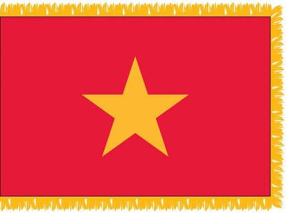 FWI-225-4X6VIETNAM Vietnam 4' x 6' Indoor Flag with Pole Sleeve and Fringe-0