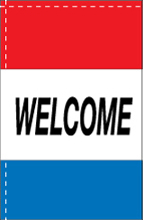 WC-8H-WELCOME Welcome 2.5' x 5' Windchaser Horizontal Message Flag-0
