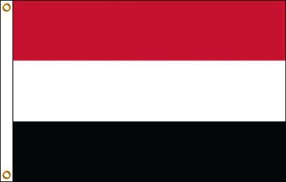 FW-110-YEMEN Yemen 2' x 3' Outdoor Nylon Flag with Heading and Grommets-0