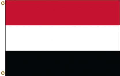 FW-110-4X6YEMEN Yemen 4' x 6' Outdoor Nylon Flag with Heading and Grommets-0