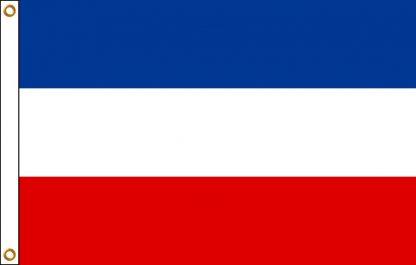 FW-110-5X8YUGOSLAVIA Yugoslavia 5' x 8' Outdoor Nylon Flag with Heading and Grommets-0
