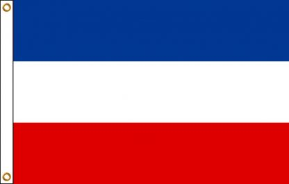 FW-110-4X6YUGOSLAVIA Yugoslavia 4' x 6' Outdoor Nylon Flag with Heading and Grommets-0