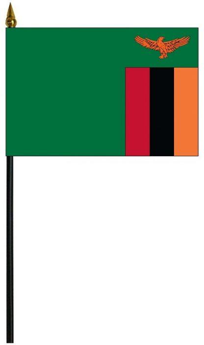 """MRF-46-ZAMBIA Zambia 4"""" x 6"""" Staff Mounted Rayon-0"""