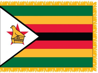 FWI-240-3X5ZIMBABWE Zimbabwe 3' x 5' Indoor Flag with Pole Sleeve and Fringe-0